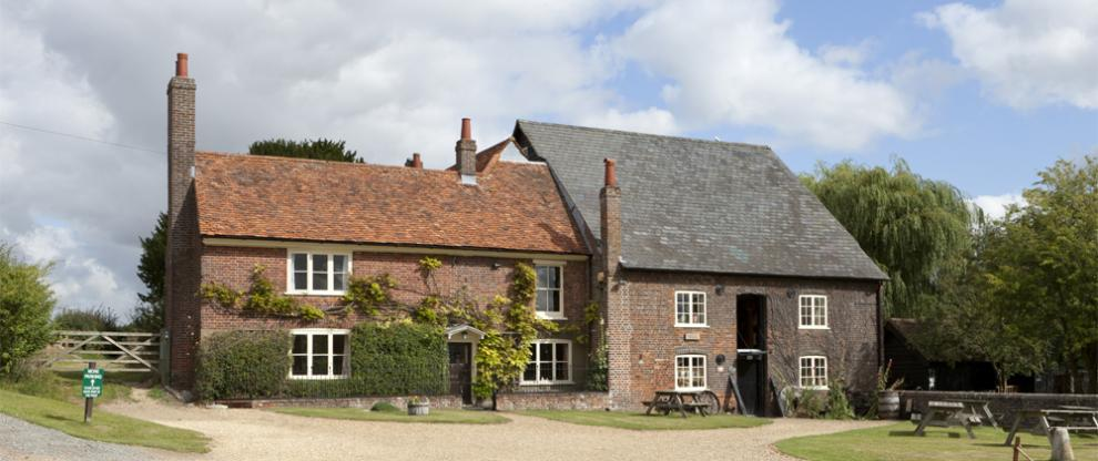 Redbournbury millhouse and mill in summer