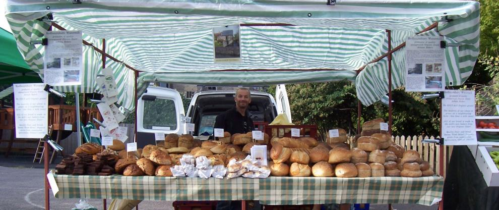 The mill's bread stall at a London Farmers Market