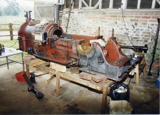 The engine during restoration